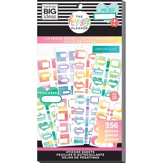 Me & My Big Ideas - Create 365 The Happy Planner - Value Pack Layered Boxes Stickers