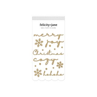 Felicity Jane - Noel - Gold Foil Puffy Titles
