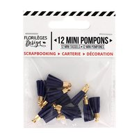 Floriléges Design - Mini Tassels - Navy (Outremer)