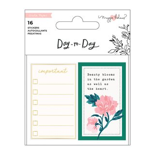 Crate Paper / Maggie Holmes - Day To Day - Sticker Book Mini (Journaling)