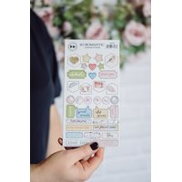 Studio Forty - So Romantic - Chipboard Stickers