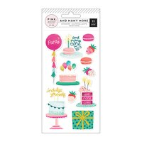 Pink Paislee - And Many More - Embossed Puffy Stickers