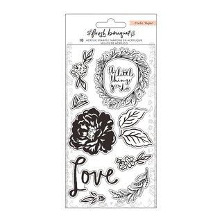 Crate Paper - Fresh Bouquet - Acrylic Stamp
