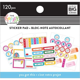 Me & My Big Ideas - Create 365 The Happy Planner - Tiny Sticker Pad (You Got This Student)