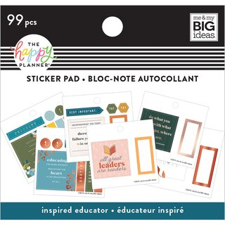 Me & My Big Ideas - Create 365 The Happy Planner - Tiny Sticker Pad (Inspired Educator)