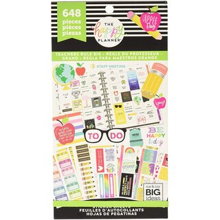 Me & My Big Ideas - Create 365 The Happy Planner - BIG Value Pack Stickers (Big Teacher)