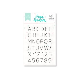 Lora Bailora - Abril - Clear Stamps Alphabet (ABC Cosido)
