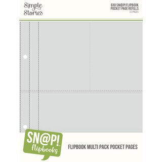 Simple Stories - SN@P! Flipbook 6x8 - Pocket Pages Multi Pack