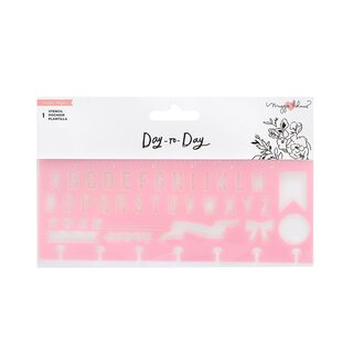 Crate Paper / Maggie Holmes - Day To Day - Stencil Alphabet Pink